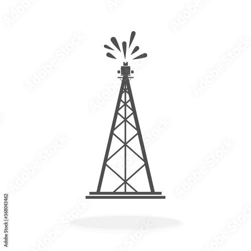 Oil Rig Icon or Logo Vector Illustration