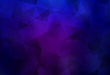 Dark Purple, Pink Vector Polyg...
