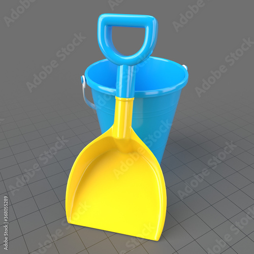 Obraz Bucket and shovel - fototapety do salonu