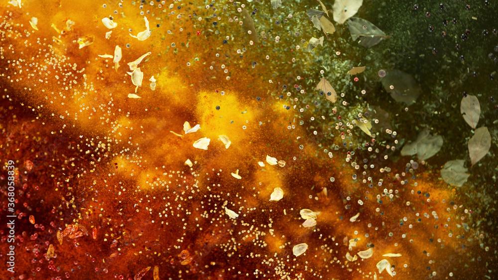 Fototapeta Freeze motion of spice explosion