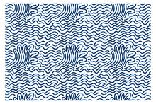 Seamless Pattern Of Blue Storm...