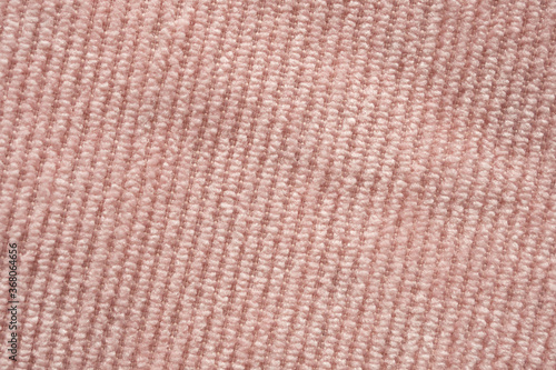 Pink fabric cloth texture background close up