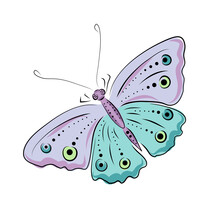 Hand Drawn Moth And Butterflie...