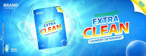 Fotografie, Obraz Laundry detergent promo banner