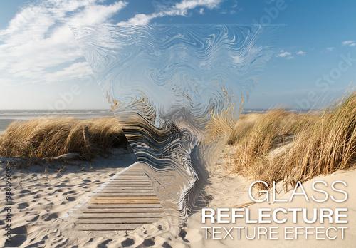 Fototapeta Reflective Texture Effect Mockup obraz