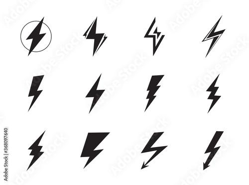Lightning vector set Fototapete