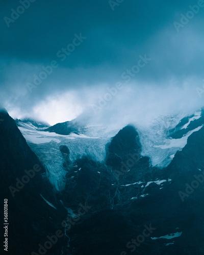 Valokuva glacier in the alps