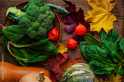 Harvested vegetables Fototapete