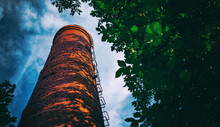 Old High Chimney Of A Boiler R...