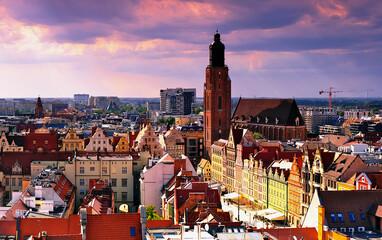 Starówka miasta Wrocławia Polska