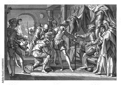 Fotografija Count William III of Holland orders the beheading of his bailiff, vintage illustration