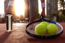Close Up On Tennis Ball