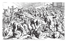 Murder Of Agamemnon And Cassandra, Vintage Illustration.