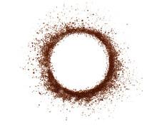 White Circle Of Coffee Powder ...