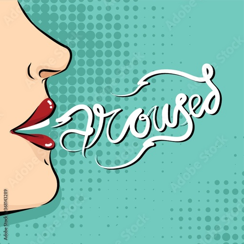 poster with word aroused Wallpaper Mural