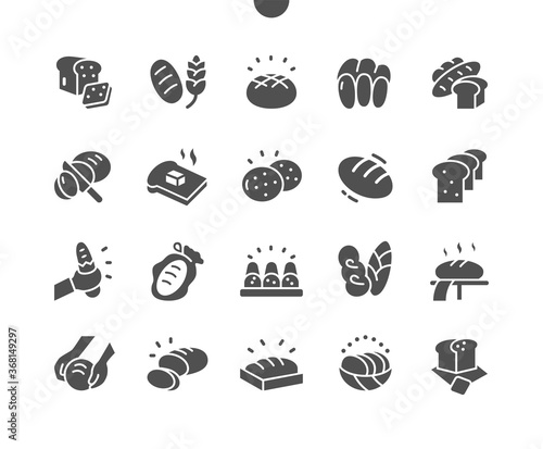 Obraz Bread Well-crafted Pixel Perfect Vector Solid Icons 30 2x Grid for Web Graphics and Apps. Simple Minimal Pictogram - fototapety do salonu