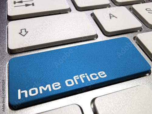 Foto Ein Computer und Taste für Home Office