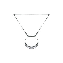 Short Martini Glass Isolated On White. Hand Drawn Illustration. Pencil Sketch Of Empty Glassware For Alcohol Drink. Design Element For Bar And Restaurant Menu, Recipes, Flyers.