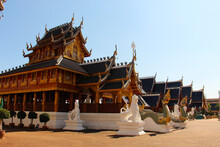 Temple In The North Of Thailan...