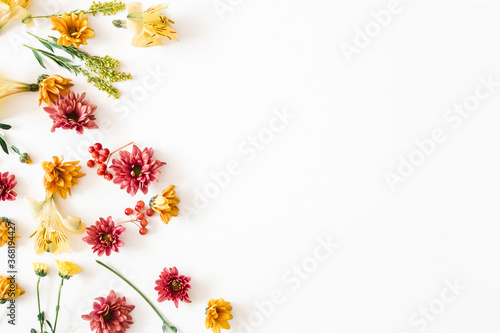 Fotografie, Tablou Autumn floral composition