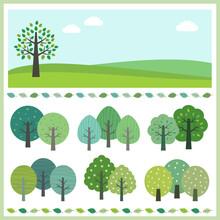 緑の木 風景 セット / V...