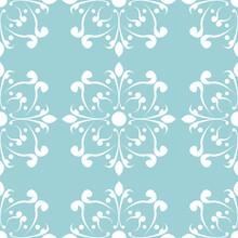 Floral Seamless Pattern. White...