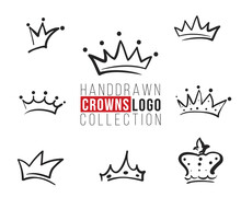 Hand Drawn Crown Logo Collection
