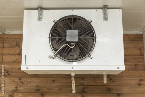 Fototapety, obrazy: Air conditioner, fan close up