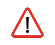 Alert Icon. Red Triangle Alert...