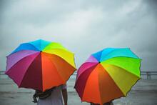 An Umbrella Holder Outdoors On...