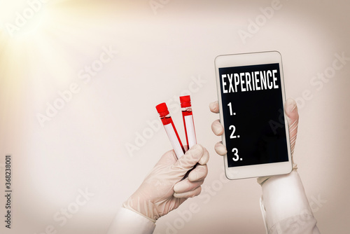 Handwriting text writing Experience Wallpaper Mural