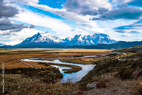 Torres del Paine, Nationalpark , Patagonien , Chile Wallpaper Mural