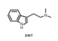 Dmt Molecule Icon.  Molecule V...