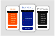 Subscription Plans And Pricing Comparision Web Template