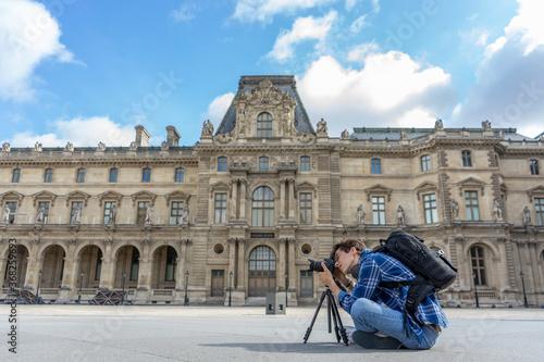 Fotografie, Tablou photographe au louvre