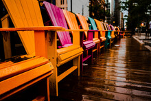 View Of Colorful Chairs On A R...