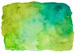 canvas print picture - Hand painted colorful watercolor background.