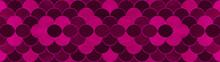 Dark Pink Magenta Seamless Grunge Abstract Mermaid Scales Pattern Tiles Texture Background Banner Panorama