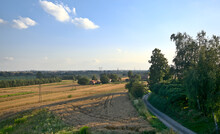 Rural Landscape Of Fields And ...