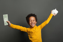 Happy African American Child W...