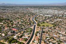 Sun Circle Trail Aerial View In Mesa, Arizona