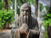 A Statue Of A Chinese Monk Who...