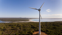 Wind Turbine For Power Generation With Sea Views