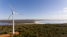 Wind Turbine For Power Generation On The Coast
