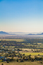 Overlooking View Of Town And Rural Landscape Near Gunnedah