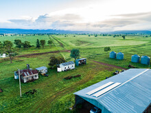 Aerial Photo Of Solar Panels O...