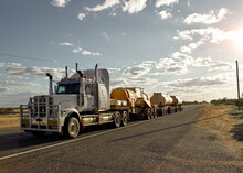 Road Train Passing Through A C...