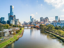 Looking Down The Yarra River T...