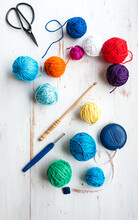 Balls Of Cotton And Crochet To...
