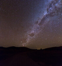 Milky Way Rising Over Hills